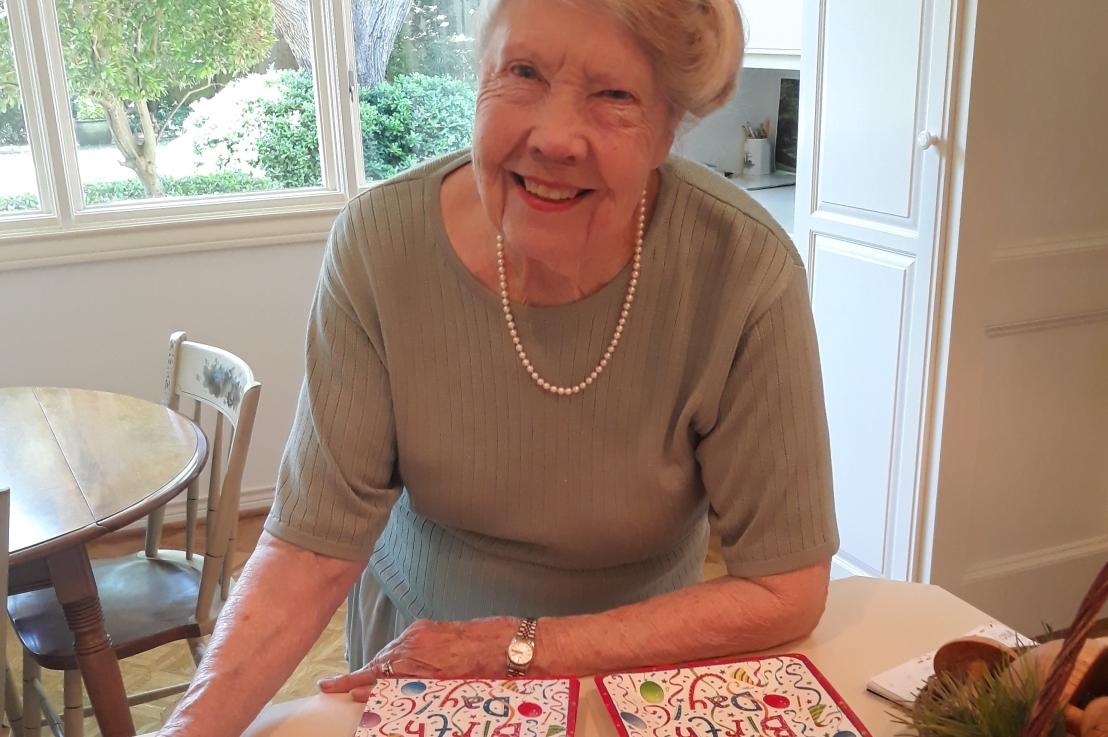 On Mom's 90th Birthday and Lemon RaspberryCake